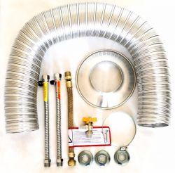 Kit De Instalação Para Aquecedor À Gás Completo Homologado