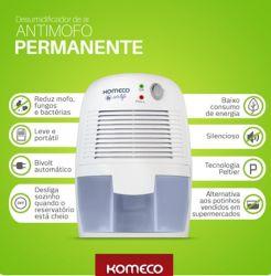 Mini Desumidificador De Ar Mod Peltier Kdp250g1 - Komeco